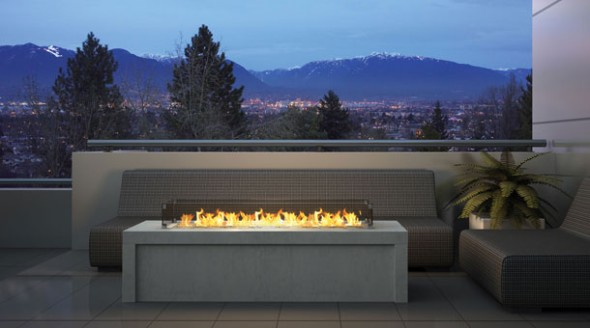 Regency Plateau PTO60 Outdoor Gas Fireplace : Fireplaces ...